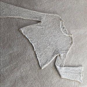 Knit long sleeve belle top